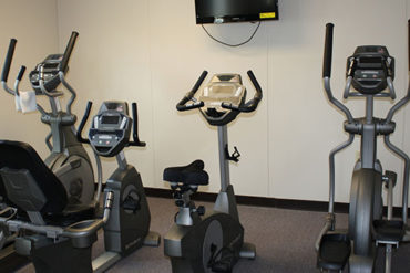 exercise equipment in a custom modular building
