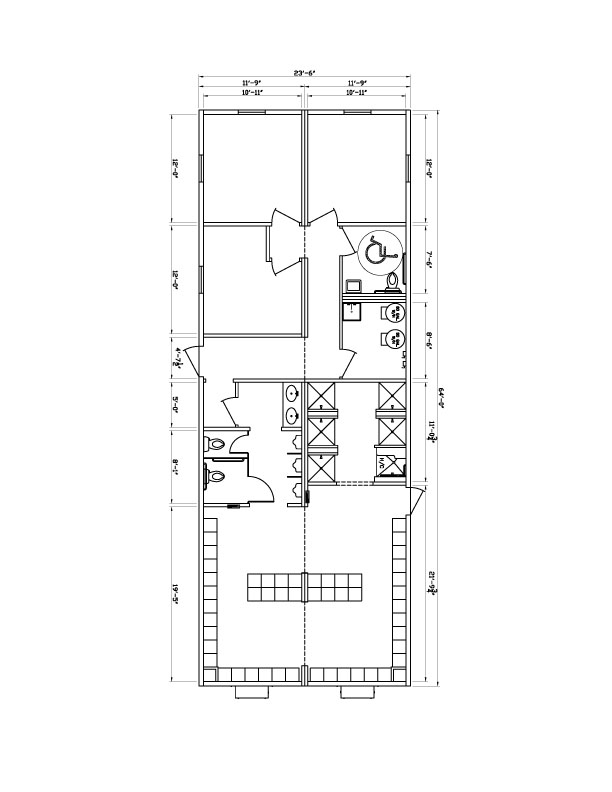 locker & shower room floor plans