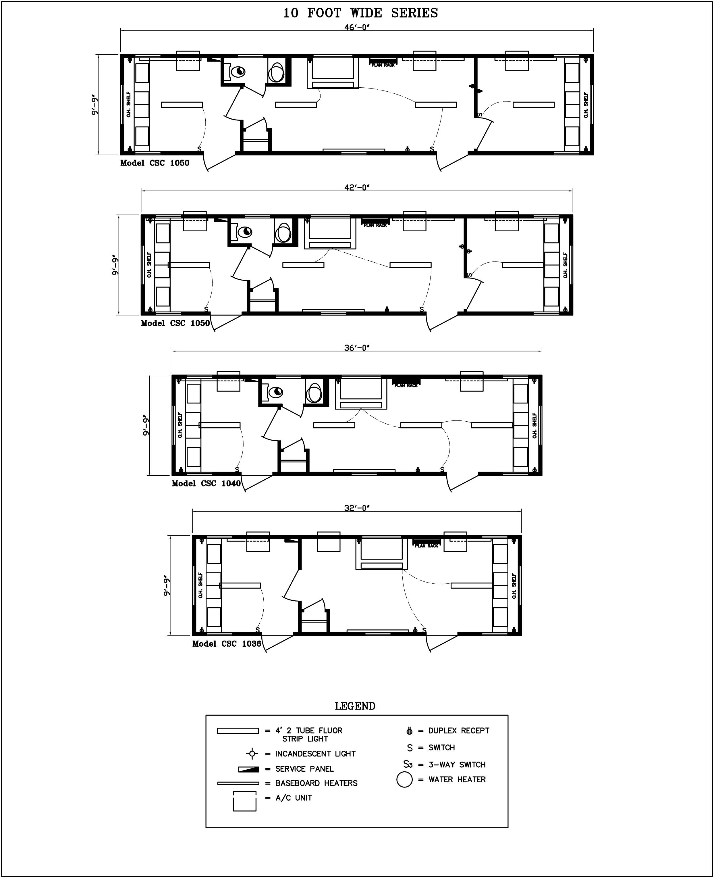 10 foot wide modular office floor plans
