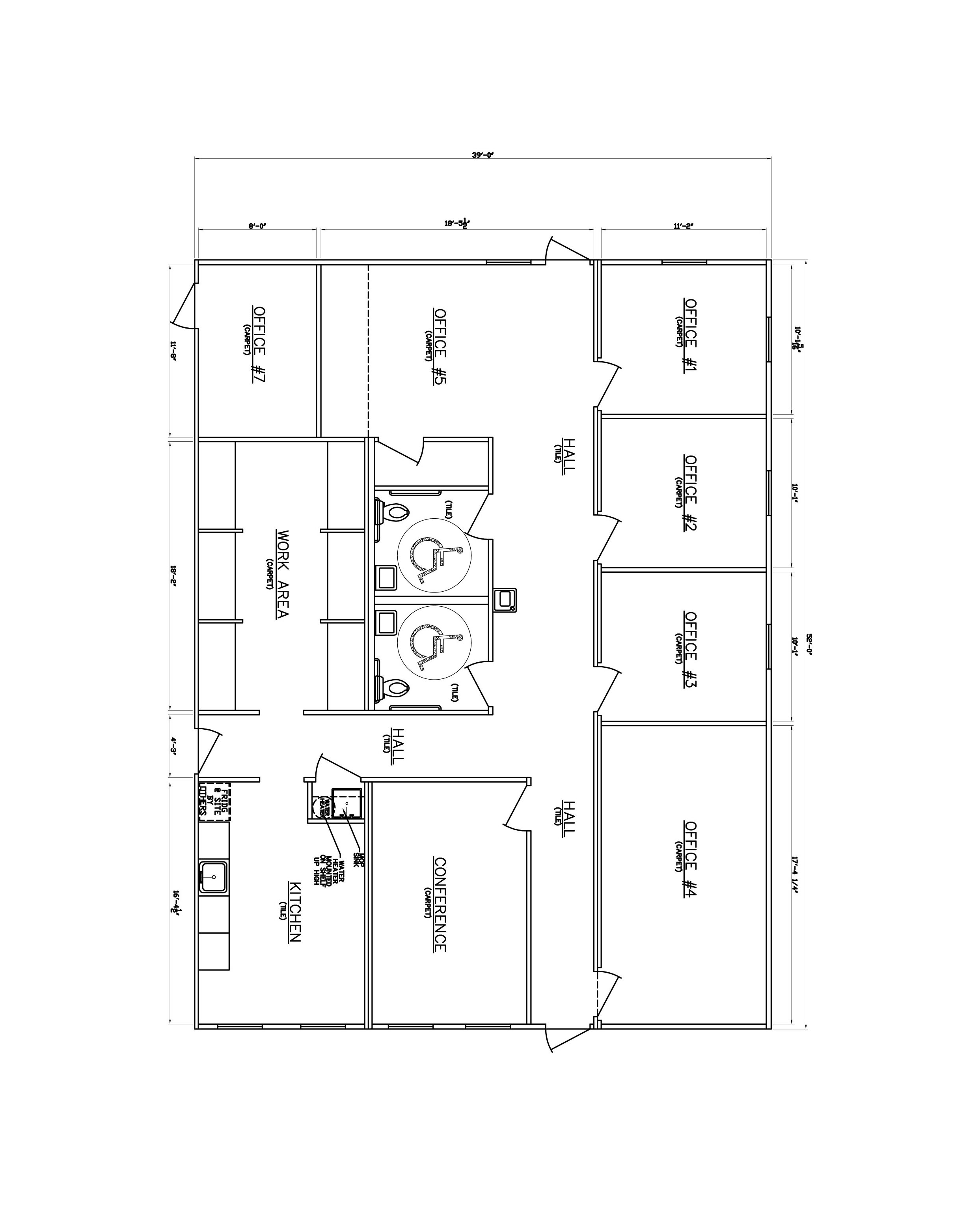 2 storey commercial building floor plan for Small commercial building plans