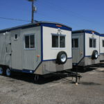 Exterior of a Contractor Mobile Office Trailer