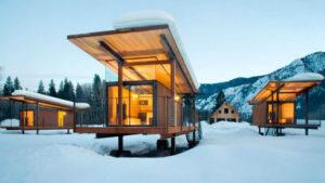 Modular camping huts
